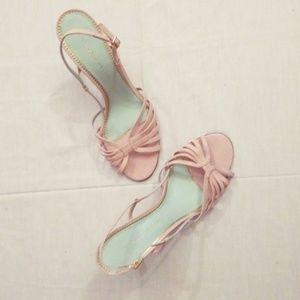 Antonio Melani baby pink strap sandal heels